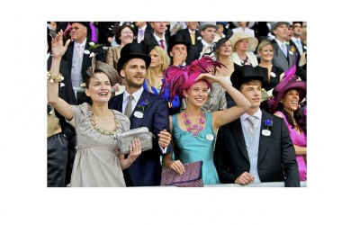 Racegoers in the Royal Ascot audience