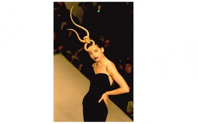 Philip Treacy at London Fashion Week in 1998