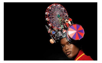 Philip Treacy fairground headpiece