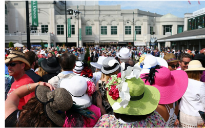 A crowd at The Kentucky Derby 2015