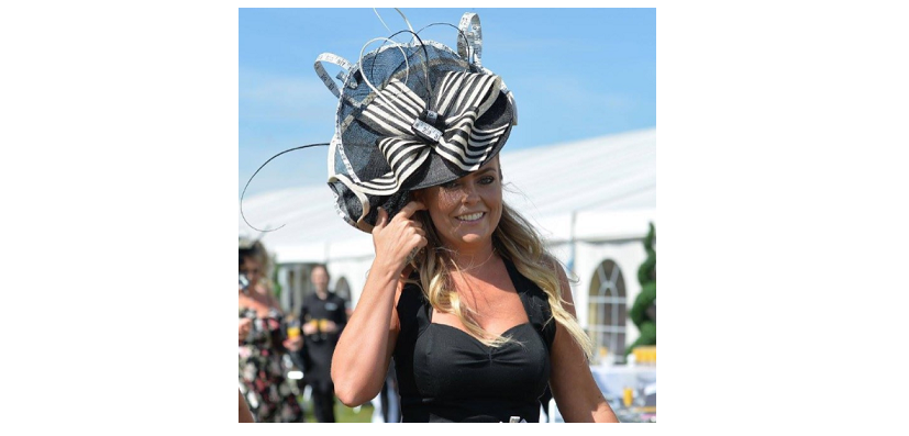 Another fantastically glamorous look from the races, this time in monchrome! Photo by Instagram user @claireabellafounder